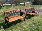 Our newly refinished benches - thanks William