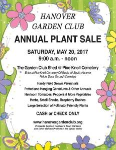 Garden Club sale poster